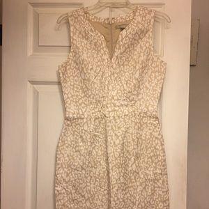 Banana Republic Linen Leopard Print Shift Dress